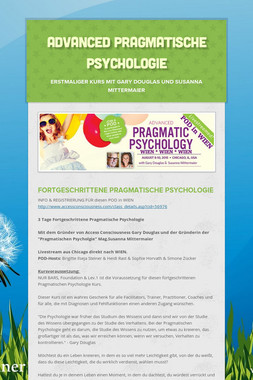 Advanced Pragmatische Psychologie