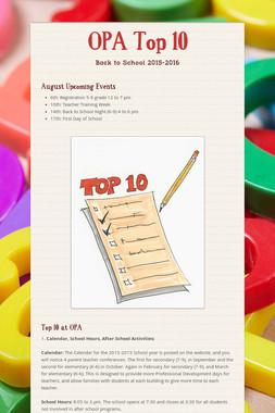 OPA Top 10