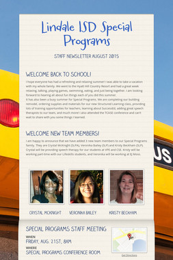 Lindale ISD Special Programs