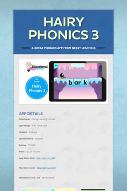 Hairy Phonics 3