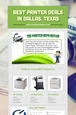 Best Printer Deals In Dallas, Texas