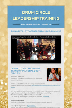 Drum Circle Leadership Training