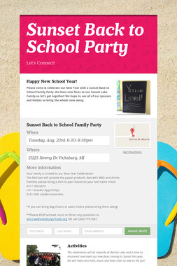 Sunset Back to School Party