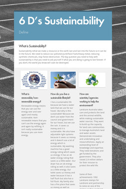 6 D's Sustainability
