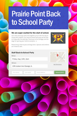 Prairie Point Back to School Party