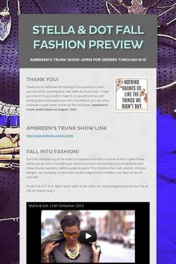 Stella & Dot Fall Fashion Preview