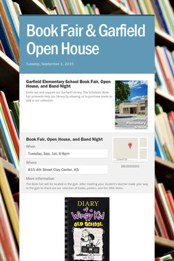 Book Fair &    Garfield Open House