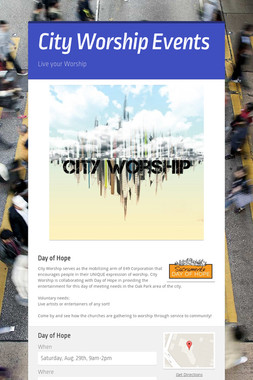 City Worship Events