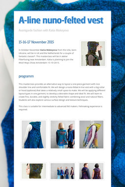 A-line nuno-felted vest