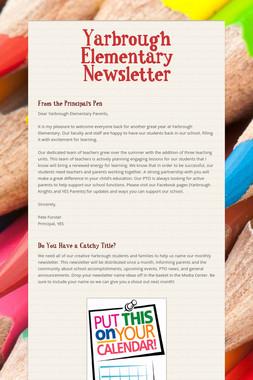 Yarbrough Elementary Newsletter