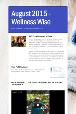 August 2015 - Wellness Wise