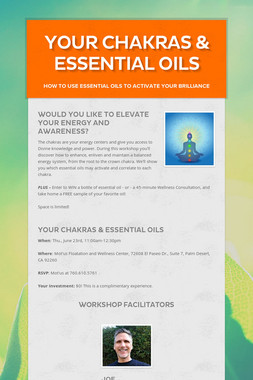 Your Chakras & Essential Oils