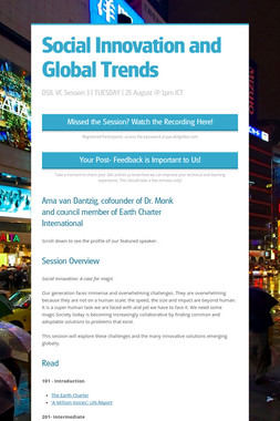 Social Innovation and Global Trends