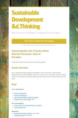 Sustainable Development &d.Thinking