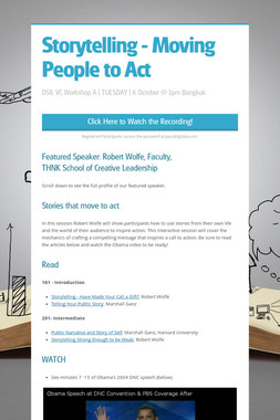 Storytelling - Moving People to Act