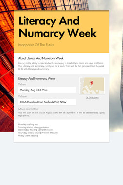 Literacy And Numarcy Week