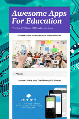 Awesome Apps For Education