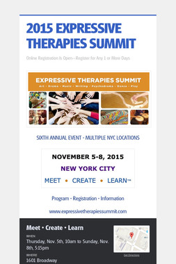 2015 EXPRESSIVE THERAPIES SUMMIT