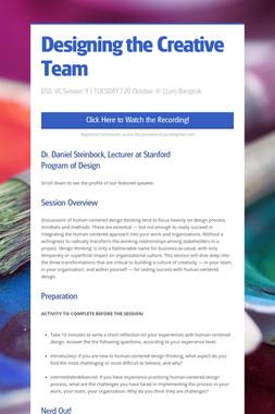 Designing the Creative Team