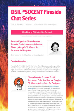 DSIL #SOCENT Fireside Chat Series