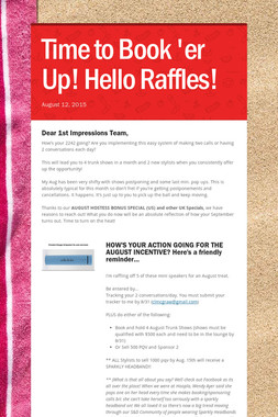 Time to Book 'er Up! Hello Raffles!