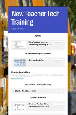 New Teacher Tech Training