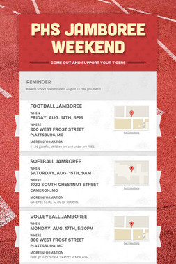PHS Jamboree Weekend