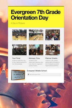 Evergreen 7th Grade Orientation Day