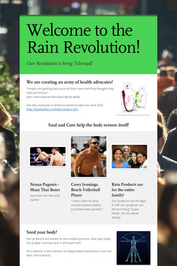 Welcome to the Rain Revolution!