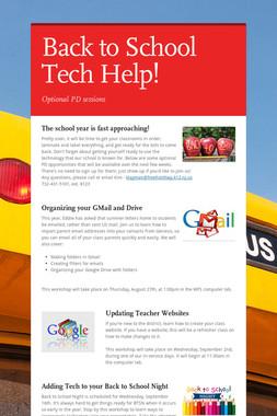 Back to School Tech Help!