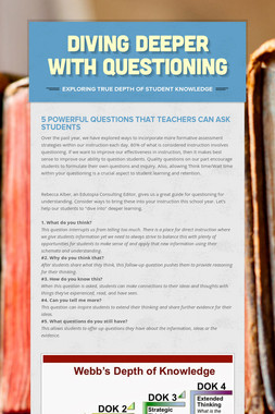 Diving Deeper with Questioning
