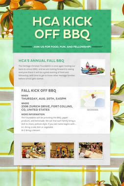 HCA Kick Off BBQ