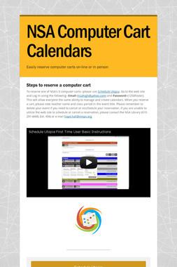 NSA Computer Cart Calendars