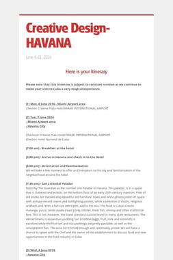 Creative Design-HAVANA