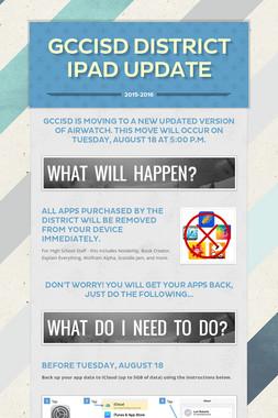 GCCISD District iPad Update