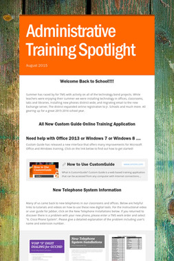 Administrative Training Spotlight