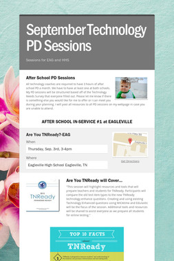September Technology PD Sessions