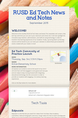RUSD Ed Tech News and Notes