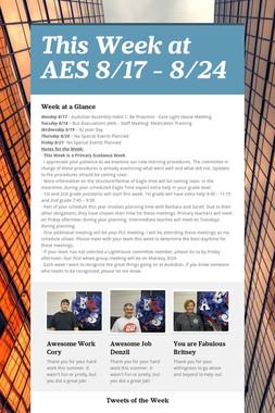 This Week at AES 8/17 - 8/24