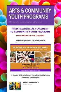 ARTS & COMMUNITY YOUTH PROGRAMS