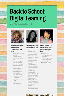 Back to School: Digital Learning