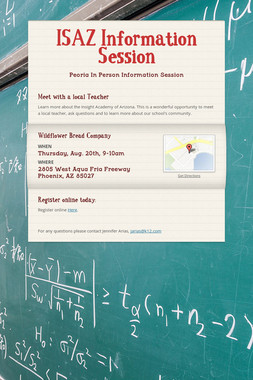 ISAZ Information Session