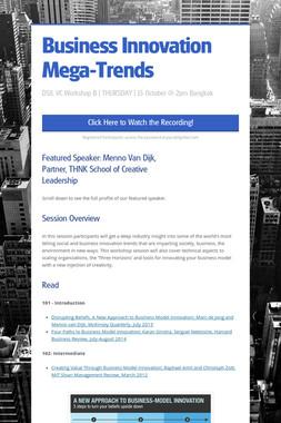 Business Innovation Mega-Trends