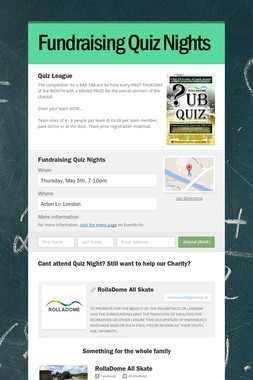 Fundraising Quiz Nights