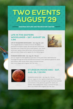 Two Events August 29