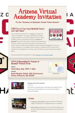 Arizona Virtual Academy Invitation
