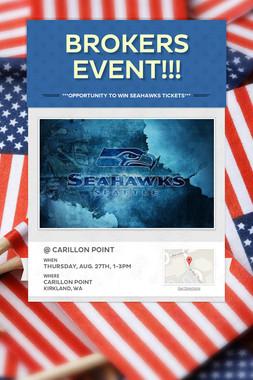 Brokers Event!!!