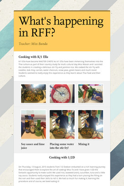 What's happening in RFF?