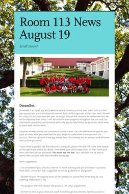 Room 113 News August 19