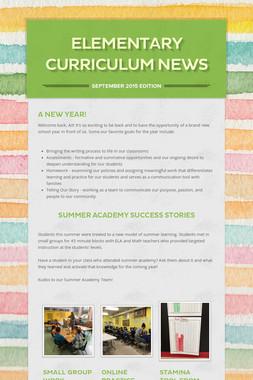 Elementary Curriculum News